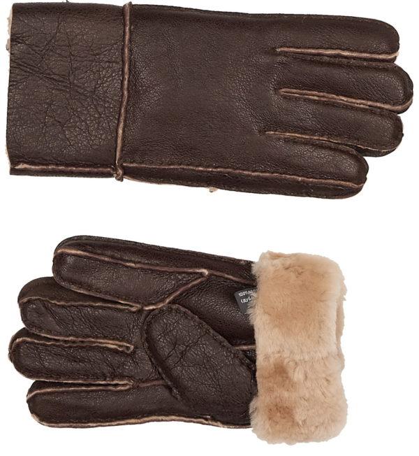 Перчатки мужские кожаные с манжетом оптом GLM-21901-10-