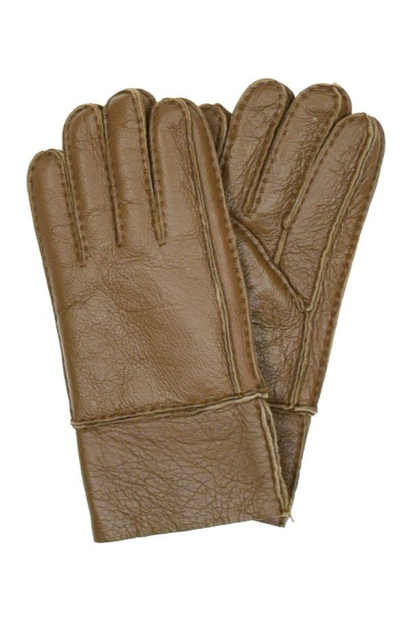 Перчатки мужские кожаные с манжетом оптом GLM-21903-10-