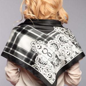 Платок женский оптом 0015print black