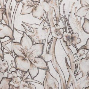 Шарф женский оптом LBsilk flower beige