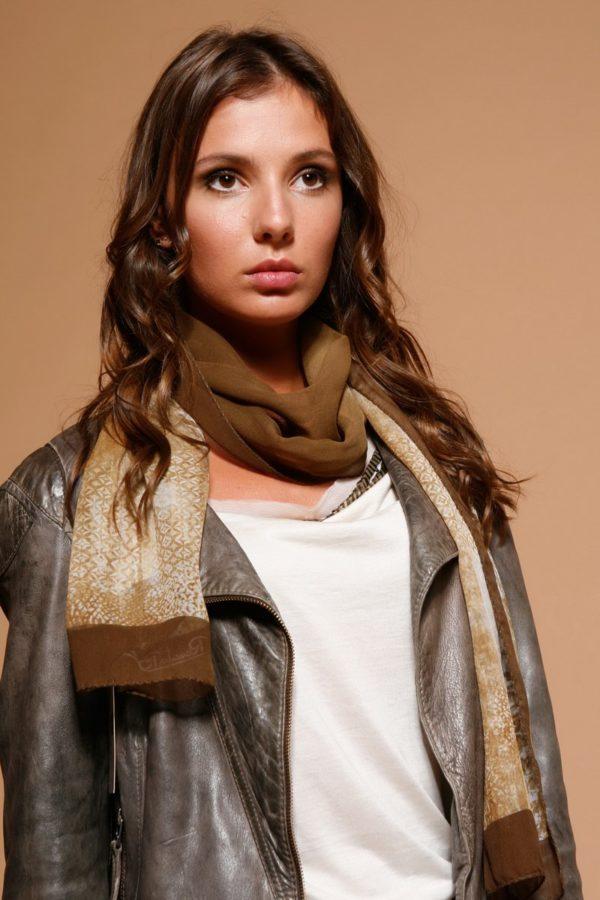 Шарф женский оптом RBsilk-13-beige