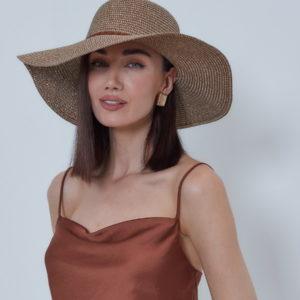 Шляпа Коричневый
