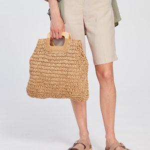 Соломенная сумка Бежевый